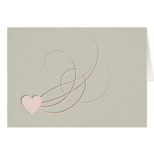 Grunge Inspired Swirls Heart Valentine's Day Card