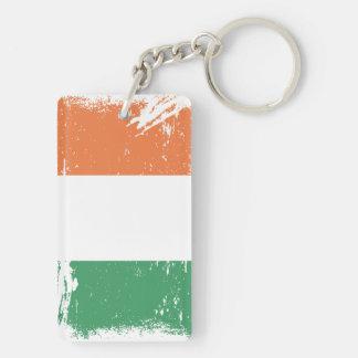 Grunge Ireland Flag Keychain