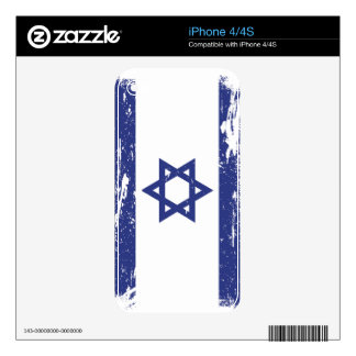 Grunge Israel Flag Skin For The iPhone 4S
