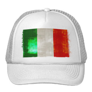 Grunge Italian flag of Italy vintage retro style Trucker Hat