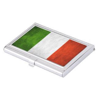 Grunge italiano de la bandera cajas de tarjetas de negocios