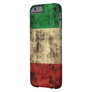 Grunge italiano del vintage de la bandera funda de iPhone 6 barely there