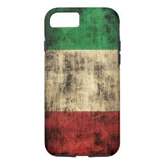 Grunge italiano del vintage de la bandera funda iPhone 7