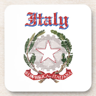 Grunge Italy coat of arms designs Coaster