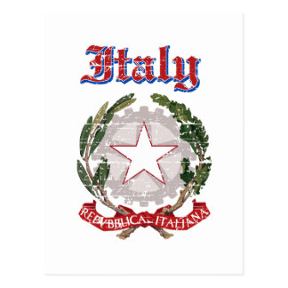 Grunge Italy coat of arms designs Postcard