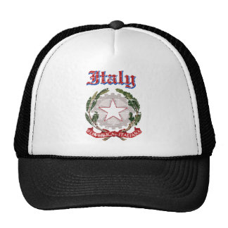 Grunge Italy coat of arms designs Trucker Hat