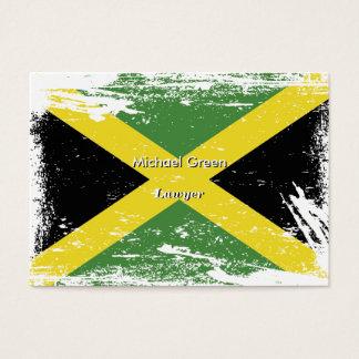 Grunge Jamaica Flag Business Card