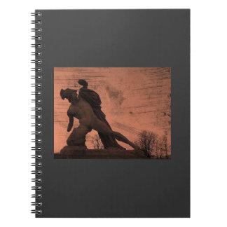Grunge Jardin des Tuileries statue Notebook