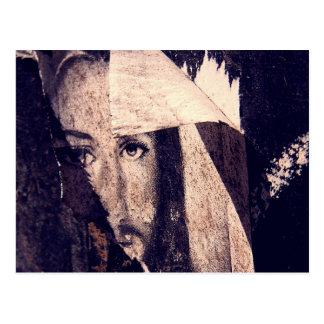 Grunge Jesus  graffiti image Postcard