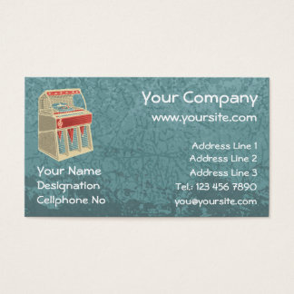 Grunge Jukebox Business Card
