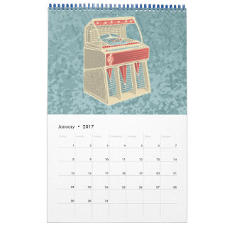 Grunge Jukebox Calendar