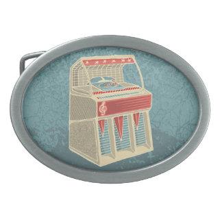 Grunge Jukebox Oval Belt Buckle