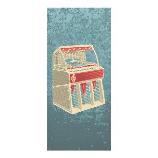 Grunge Jukebox Rack Card