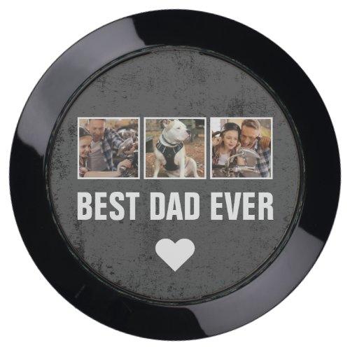 Grunge Keepsake Best Dad Ever Multi Photo USB Charging Station