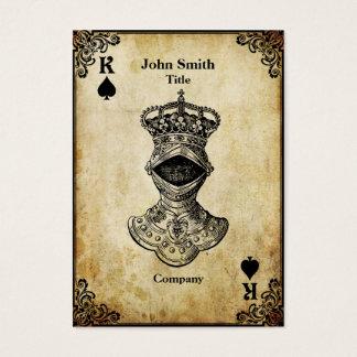 Grunge King of Spades Business Card