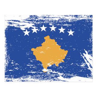 Grunge Kosovo Flag Postcard