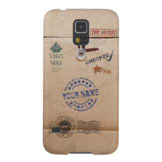 Grunge Kraft Envelope with Stamps and Custom Name Galaxy S5 Case