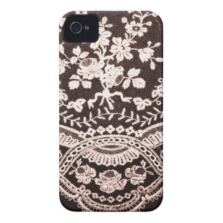Grunge Lace Fabric Case-Mate iPhone 4 Cases