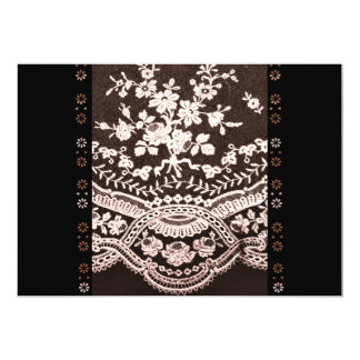 Grunge Lace Fabric 13 Cm X 18 Cm Invitation Card