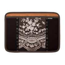 Grunge Lace Fabric Sleeve For MacBook Air