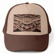 Grunge Lace Fabric Trucker Hat