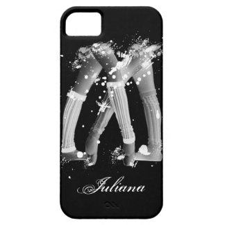 Grunge Leg Warmers on Black iPhone 5 Case