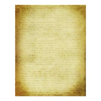 Grunge Letter Scrapbook Paper Letterhead