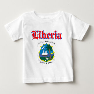 Grunge Liberia coat of arms designs T-shirt