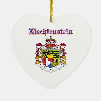 Grunge Liechtenstein coat of arms designs Ceramic Ornament