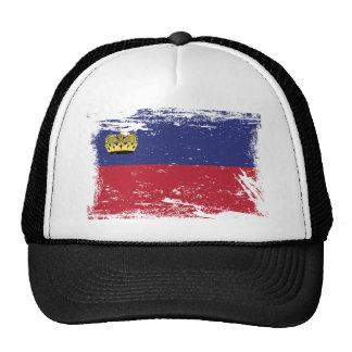 Grunge Liechtenstein Flag Trucker Hat