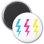 Grunge Lightning Magnet