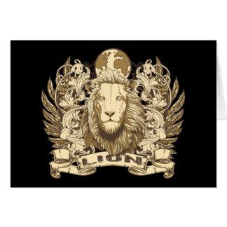 Grunge Lion Card