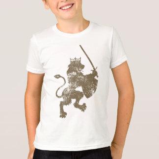 Grunge Lion King Boy's Ringer T-Shirt
