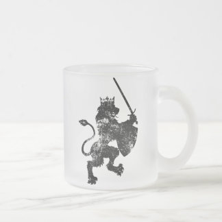 Grunge Lion King Frosted Coffee Mug