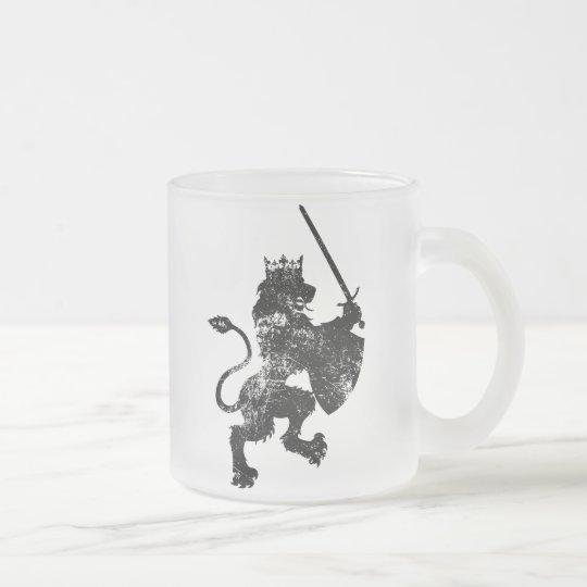 Grunge Lion King Frosted Coffee Mug