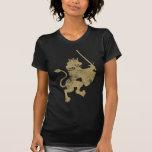 Grunge Lion King Ladie's Dark Twofer T-Shirt