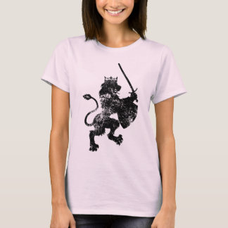Grunge Lion King Ladie's Fitted T-Shirt
