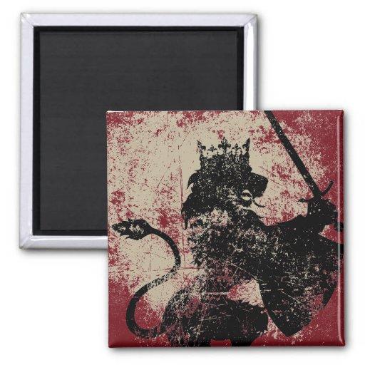 Grunge Lion King Magnet