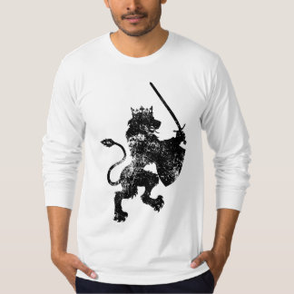 Grunge Lion King Men's Fitted Long Sleeve Shirt