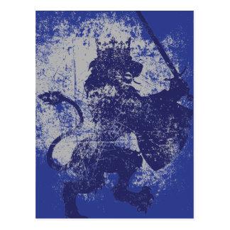 Grunge Lion King Postcard