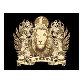 Grunge Lion Postcard