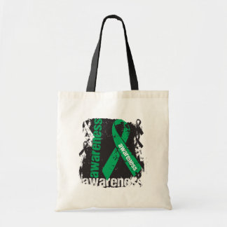 Grunge Liver Cancer Awareness Bags