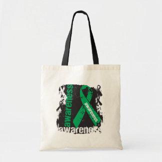 Grunge Liver Cancer Awareness Budget Tote Bag