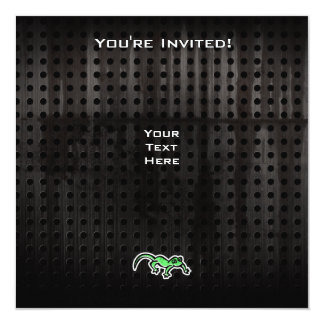 Grunge Lizard Personalized Invite