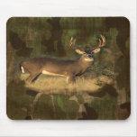Grunge Look Camoflage Deer- Mousepad