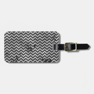 Grunge Look Distressed Chevron Pattern in Greys Tags For Bags