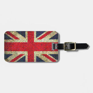 Grunge Look Union Jack Flag Bag Tag