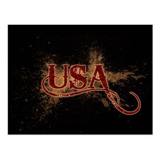 Grunge los E.E.U.U. de la sangría Postal