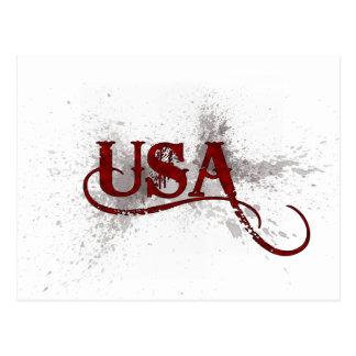 Grunge los E.E.U.U. de la sangría Tarjeta Postal