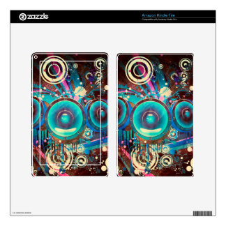 Grunge Loud Speakers 2 Kindle Fire Skin